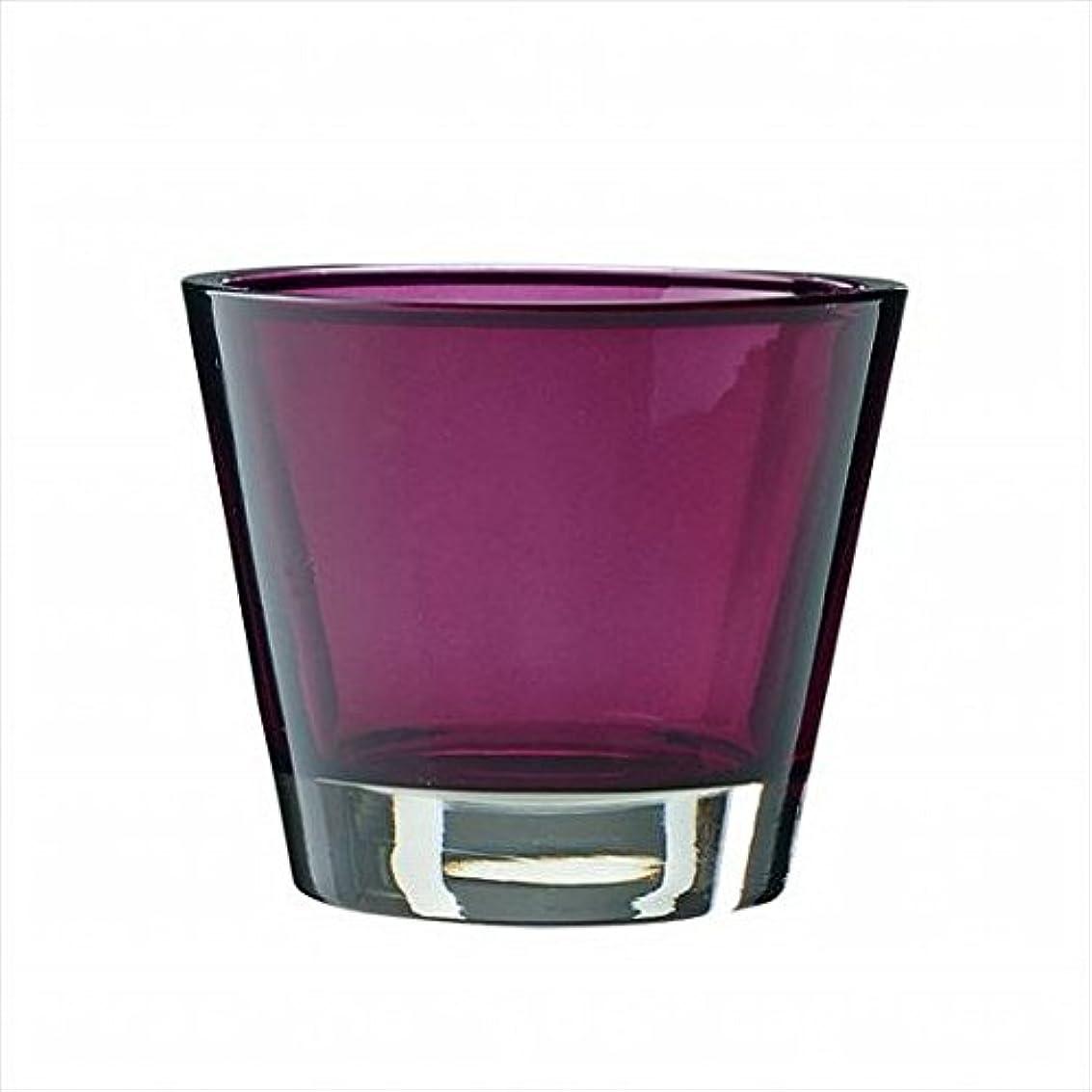 マーベル軽量赤字kameyama candle(カメヤマキャンドル) カラリス 「 プラム 」 キャンドル 82x82x70mm (J2540000PL)