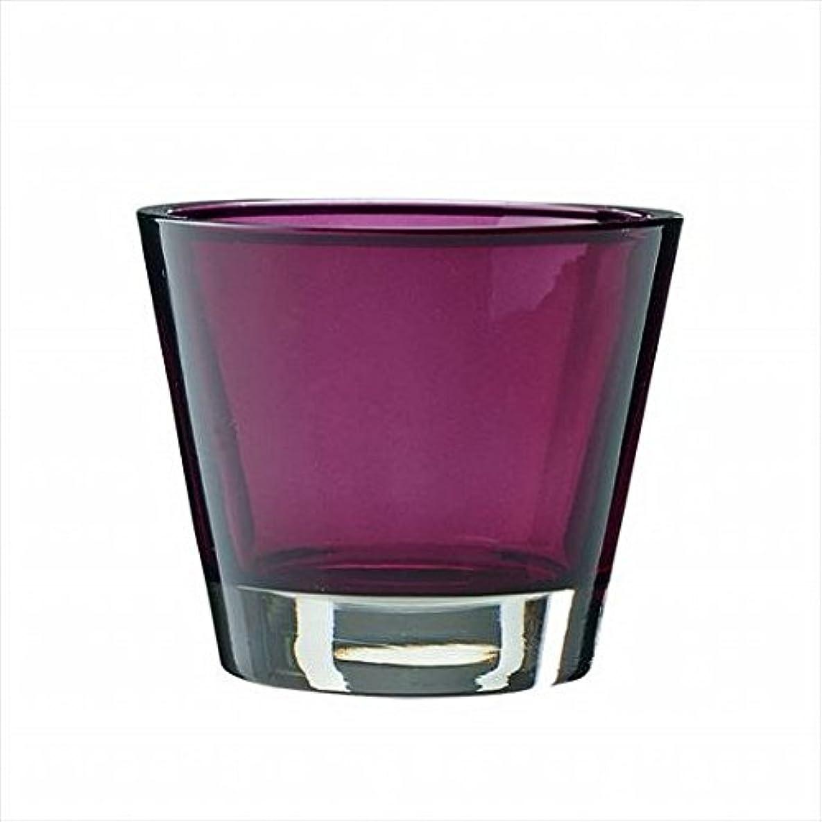 ブラウスほぼ地球kameyama candle(カメヤマキャンドル) カラリス 「 プラム 」 キャンドル 82x82x70mm (J2540000PL)