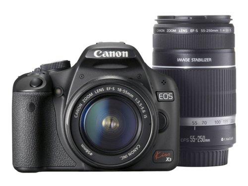 RoomClip商品情報 - Canon デジタル一眼レフカメラ Kiss X3 ダブルズームキット KISSX3-WKIT