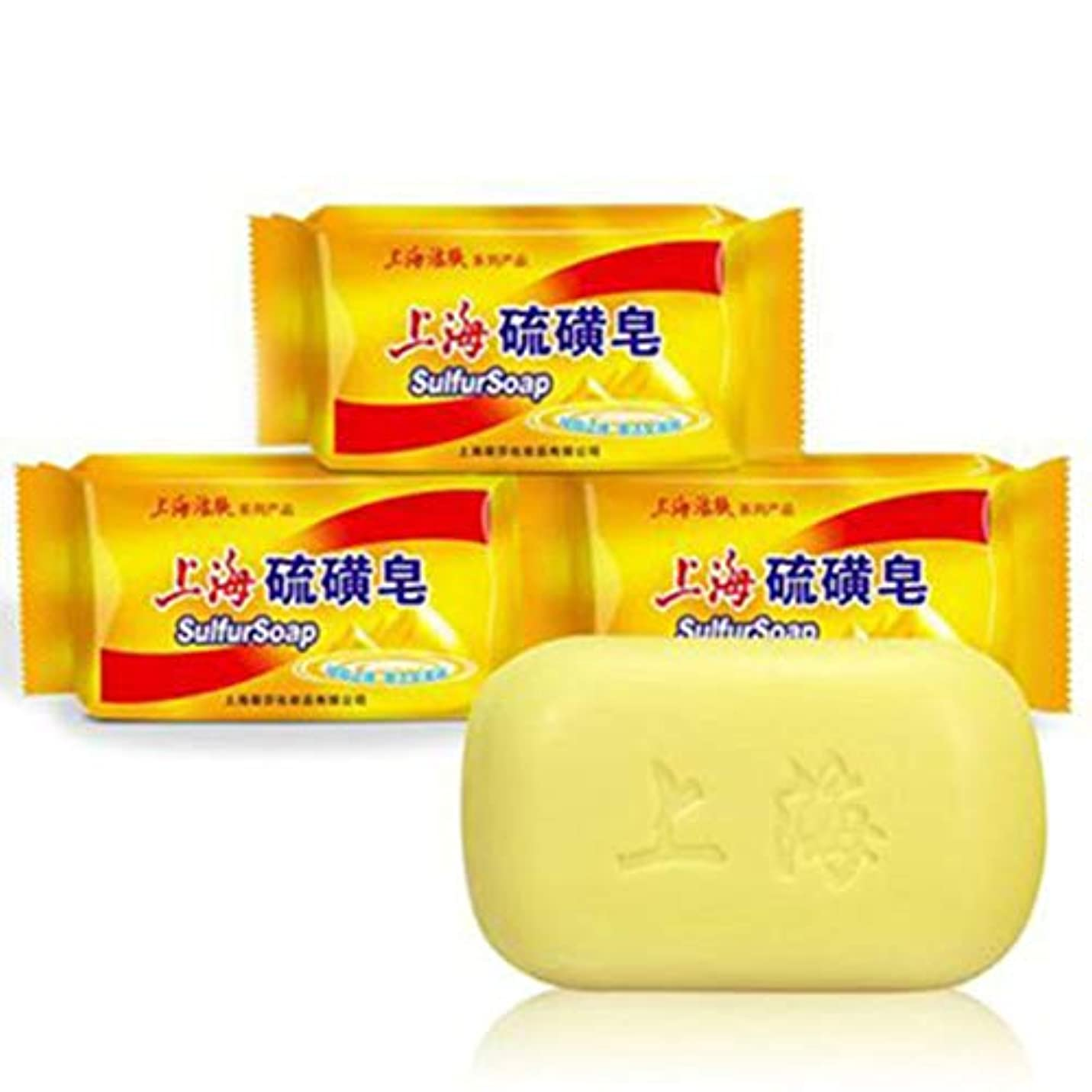 出身地環境保護主義者意気込み石鹸、ダニ石鹸入浴ユニセックス(3パック)に上海硫黄石鹸コントロールオイルフケ