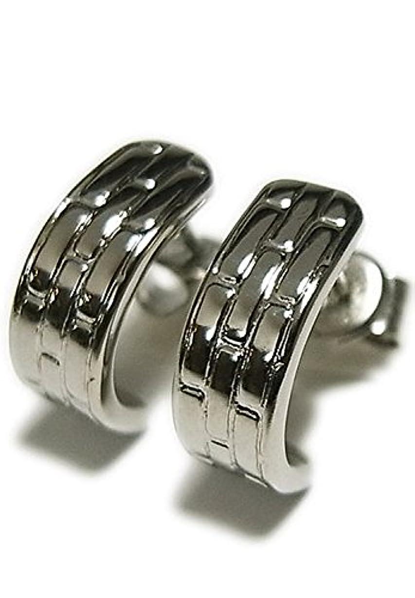 容量約束する並外れて新宿銀の蔵 SAVER ONE セイバーワン レンガ調パターンデザイン 純チタンピアス (2P) 人気 メンズ