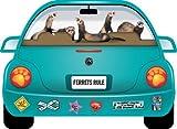 【アニマルズインク】 自動車型マグネット『フェレット最高』Ferrets Rule