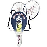 Wilson(ウイルソン) ジュニア用 硬式 テニスラケット セット [アルミラケット2本+ボール2個] BEAR RACKET SET (ベアーラケットセット) WRT6164E
