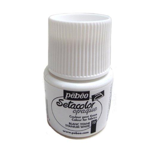 pebeo セタカラー 不透明色(オペイク) 45ml チタニウムホワイト