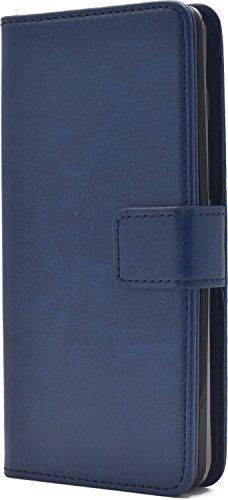 PLATA Y!mobile Android One S2 / SoftBank DIGNO G (601KC & 602KC) ケース 手帳型 カラー レザー ポーチ カバー アンドロイドワン S2 ディグノg 【 ブルー 青 blue 】 YAOS2-77BL