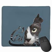 マウスパッド ネコ シルエット 猫顔 ゲーミング プリント 上品 高級感 傷防止 耐久性 速乾性 レーザー&光学式マウス対応でき ズレにくい おしゃれ