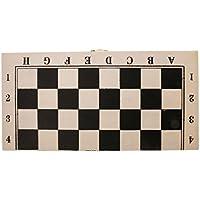 Fityle 木製 ドラフツ 西洋碁 国際チェッカー ボード 64フィールド ゲーム 正方形 折りたたみ  軽量 ギフト  約29x 29cm