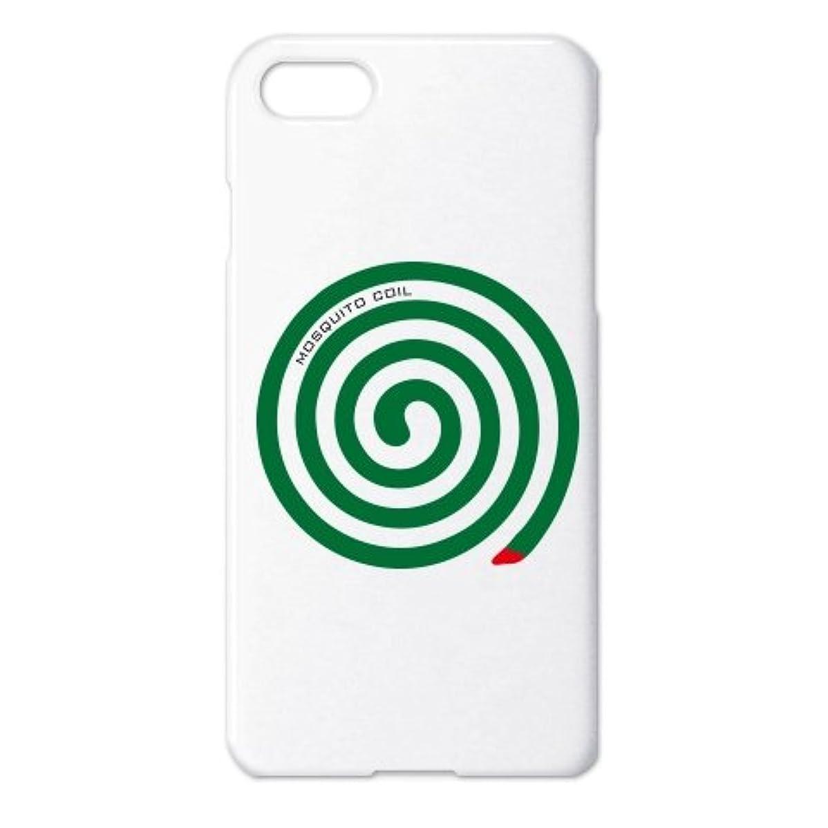 に負ける振りかける海洋の(クラブティー) ClubT 蚊取り線香(Mosquito Coil) iPhone7ケース(ホワイト) ホワイト
