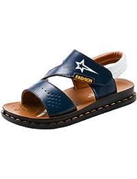 COMVIP ベビー靴 シンプル 柔らかい サンダル ビーチ 通気 滑り止め ファッション 通学 男の子 プレゼント 誕生日 夏用 子供シューズ ブルー