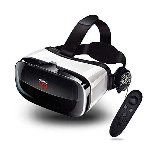 3D VR ゴーグル 運動イヤホン・リモコン・ヘッドバンド付き 軽量 超3D映像効果 視野角調節 近視対応 4.0~6.3インチスマホ対応