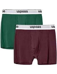 (ラパサ) Lapasa ボクサーパンツ メンズ下着 超長綿素材 肌着 ボクサーブリーフ インナー ストレッチ 無地 前開き 4インチ S-4Lサイズ展開 M03