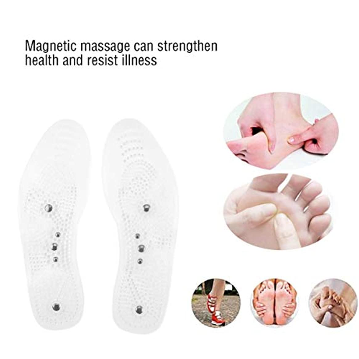 重々しい一時停止修道院Magnetic Therapy Health Care Foot Massage Insoles Anti-fatigue Magnetic Shoe Pads Silicone Foot Massager for Men...