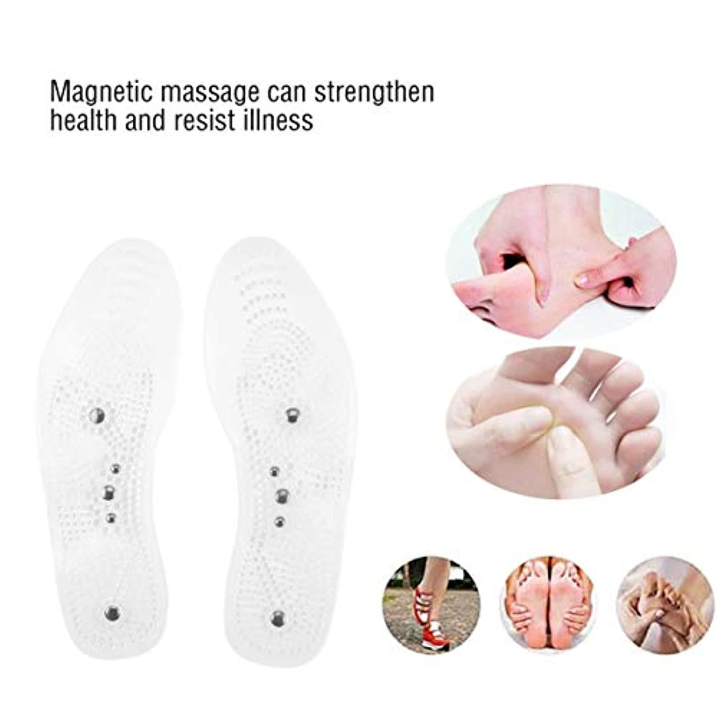 パニックプラス予防接種Magnetic Therapy Health Care Foot Massage Insoles Anti-fatigue Magnetic Shoe Pads Silicone Foot Massager for Men...