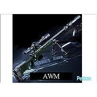 PUBG キーリング 金属製 武器型キーホルダー (3.AWM)