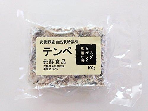 安曇野産自然栽培黒豆テンペ100gx10個