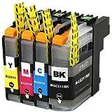 brother(ブラザー)対応の互換インクカートリッジ LC211BK LC211C LC211M LC211Y 4色セット【ICチップ付(残量表示機能付)】 対応機種: DCP-J963N DCP-J962N DCP-J762N DCP-J562N MFC-J880N MFC-J990DN MFC-J990DWN MFC-J900DN MFC-J900DWN MFC-J830DN MFC-J830DWN MFC-J730DN MFC-J730DWN