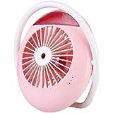 Xinyear 充電式扇風機 USB扇風機 充電 クリップ 多機能 加湿器 usb加湿器 ミニ 扇風機 卓上扇風機 ファン 卓上ミニファン 角度調節 超強力送風 可愛い 大風量 便利 USBケーブル付き ベビーカー 熱中症対策 (ピンク)
