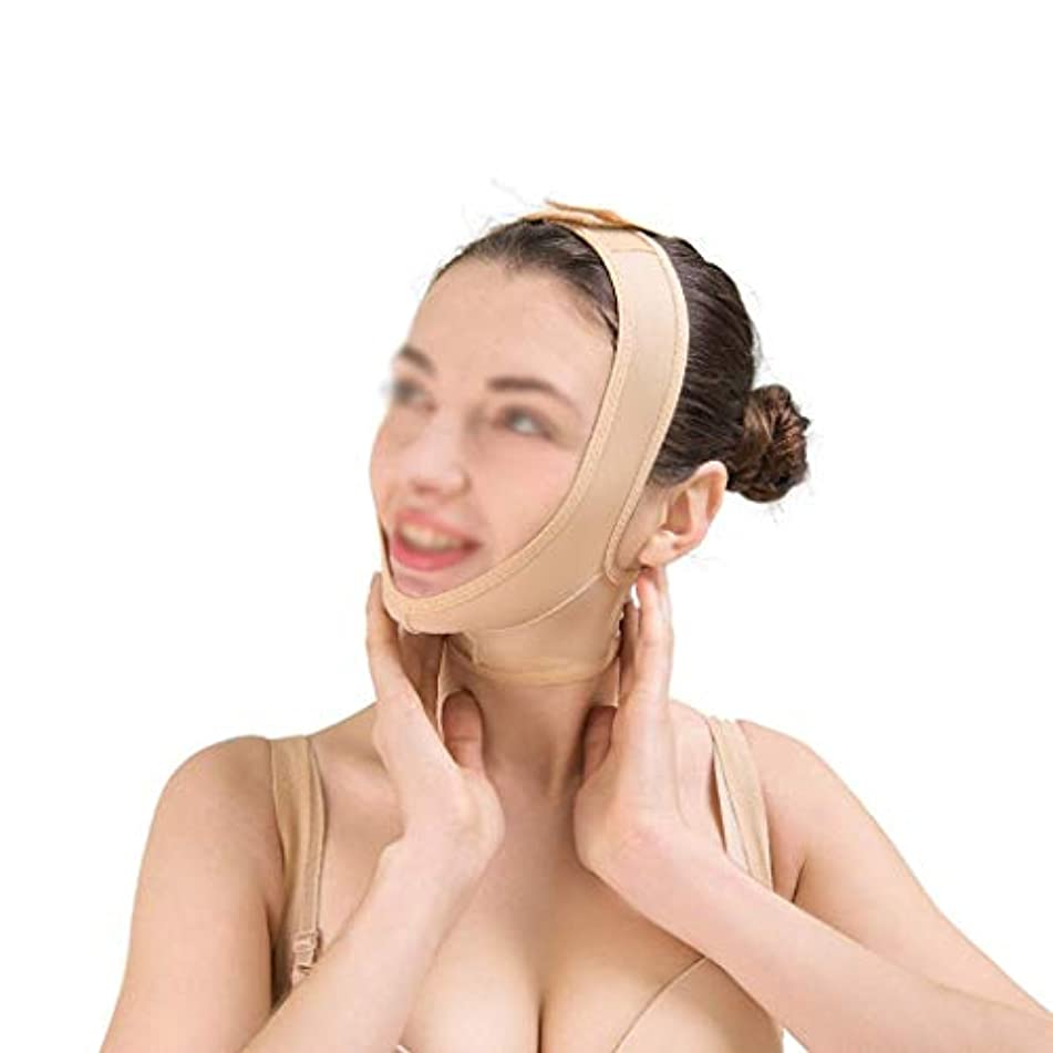これらにアートダブルチンストラップ、包帯の持ち上げ、肌の包帯の持ち上げと引き締め フェイスマスク、快適で 顔の持ち上がるマスク(サイズ:S),XL