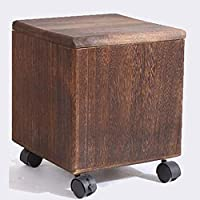 JSSFQK 家庭用ソリッドウッドスツール、シンプルなストレージスツール、雑貨収納ボックス、多目的靴ベンチ いす (色 : Brown)