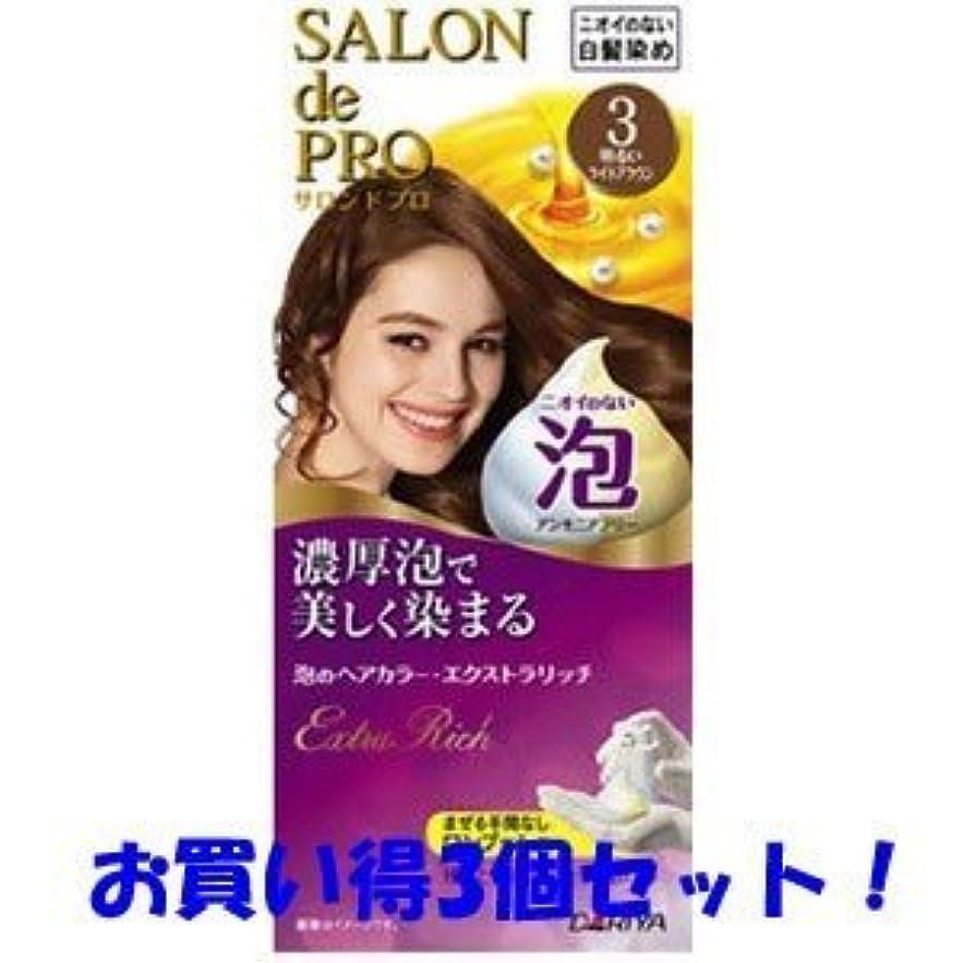 【ダリヤ】サロンドプロ 泡のヘアカラー?エクストラリッチ 3 明るいライトブラウン(医薬部外品)(お買い得3個セット)