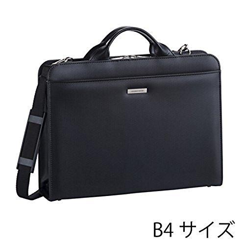ビジネスバッグ ブリーフケース 仕事 メンズ 出張 通勤 B4 クレイドルリバー 2本手ビジネスシリーズ ブラック 22294