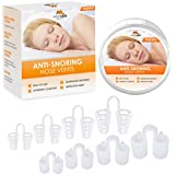 Breathing Relief Nasal Dilator - Pack of 8 Medical Grade Silicon, Anti Snoring Device Nose Vents - Simple Snoring Solution for Nasal Breathers - by Mobi Lock Beauty