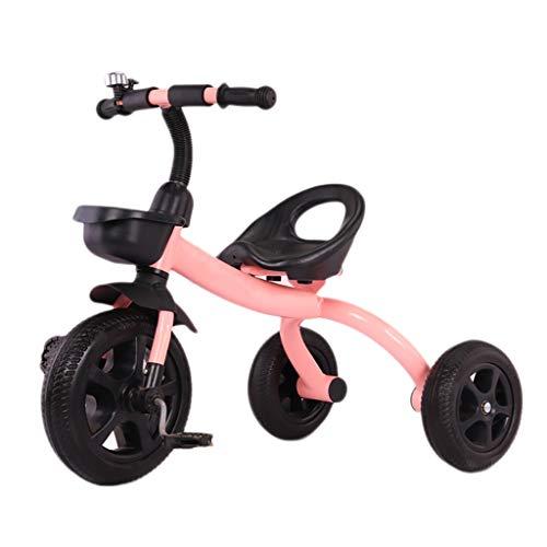 NBgy 三輪車、調節可能な1つの多機能三輪車の座席に付き軽量の忍耐強い子供2、5歳の屋外の三輪車、3色、60x50x78cm (色 : ピンク)