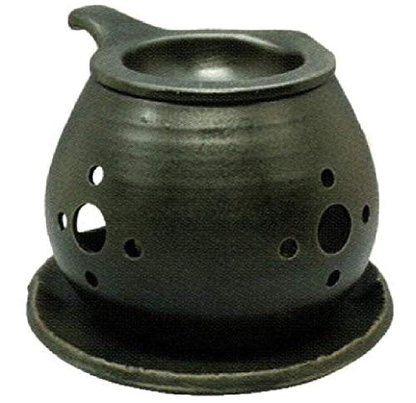 悪意できれば読みやすい常滑焼?間宮 カ40-03 茶香炉 約φ14×10cm