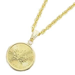 純金 K24 18金枠 メイプルリーフコイン 1/10オンス