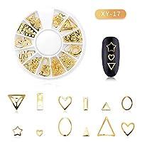 Fashionwu ネイルパーツ ブリオン パール 金属パーツ ネイルアート メタルパーツ デコ セルフネイル ネイルステッカー