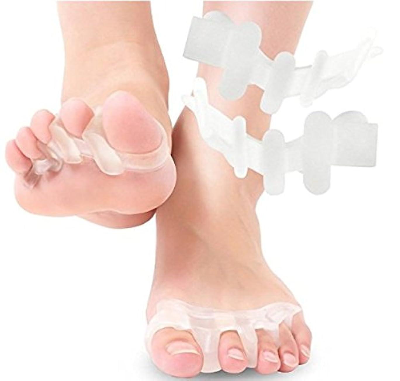 足指ケアシリコンパッド むくみ解消 外反母趾予防 冷え性改善 姿勢改善 疲労回復 男女兼用