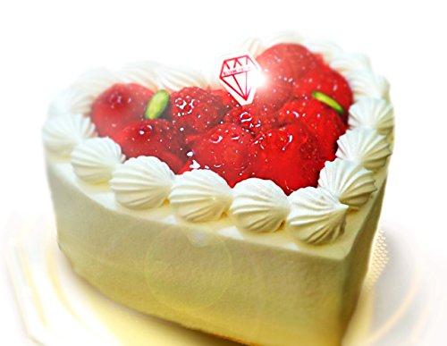 誕生日ケーキ バースデー 言葉がいらない愛のケーキ ハートデコレーションケーキ 4号(2?3人用) ローソク6本付
