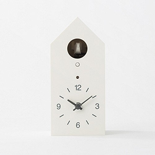 無印良品 鳩時計 掛置時計・ホワイト
