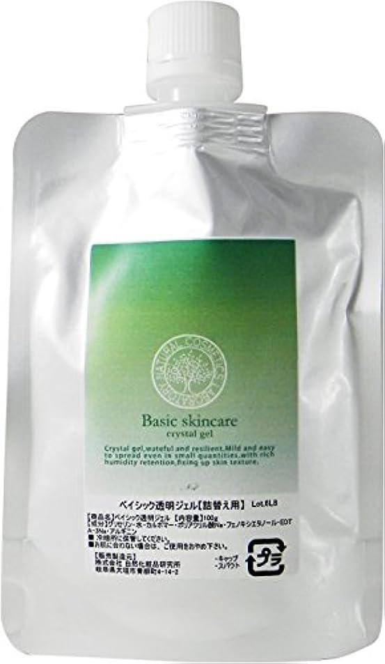 トレーニング酸素かご自然化粧品研究所 ベイシック 透明ジェル 100g 詰替え用