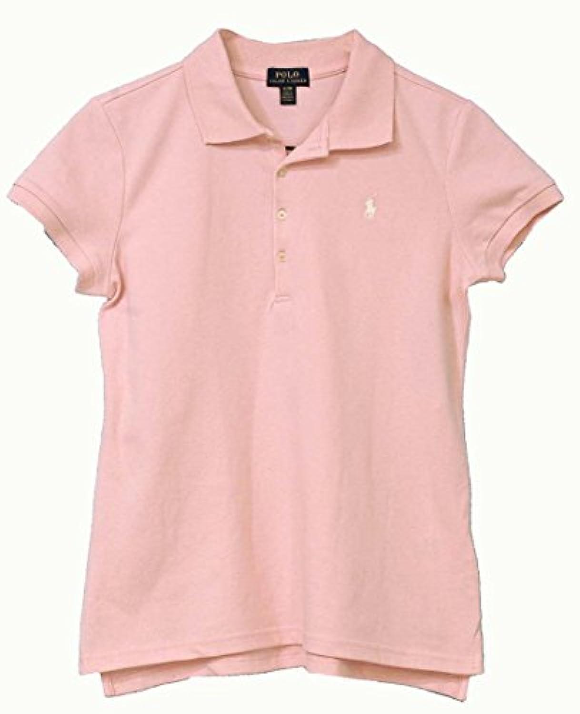 Ralph Lauren(ラルフローレン) ガールズ, #313573242 ベーシック半袖鹿の子ポロシャツ (USガールズ XL(日本サイズM-L), ピンク) [並行輸入品]