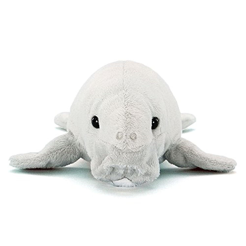 カロラータ ジュゴン ぬいぐるみ (検針2度済み) 動物 ねそべりシリーズ [やさしい手触り] お人形 17.5cm×10cm×32cm