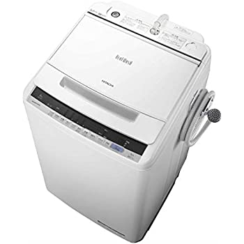 日立 8.0kg 全自動洗濯機 ホワイトHITACHI ビートウォッシュ BW-V80C-W