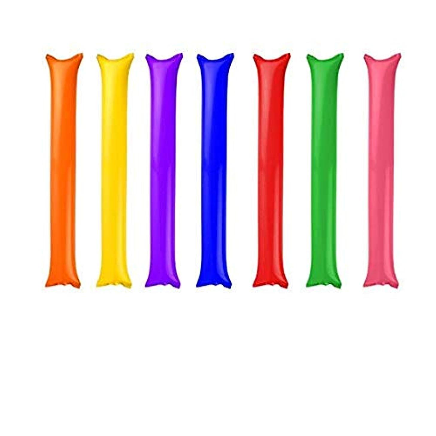 熟練したベットドキドキSimg スティックバルーン 16本セット 繰り返し使う可能 応援グッズ 雰囲気を作る ピンク?レッド?グリーン?ブルー?ホワイト?イェロー?オレンジ?パープル