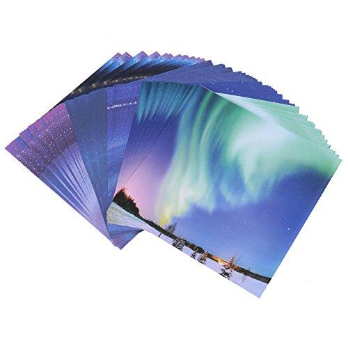 折り紙 千羽鶴用キット 手作り 星空 折紙 片面 4色 60枚セット 大サイズ 15*15cm