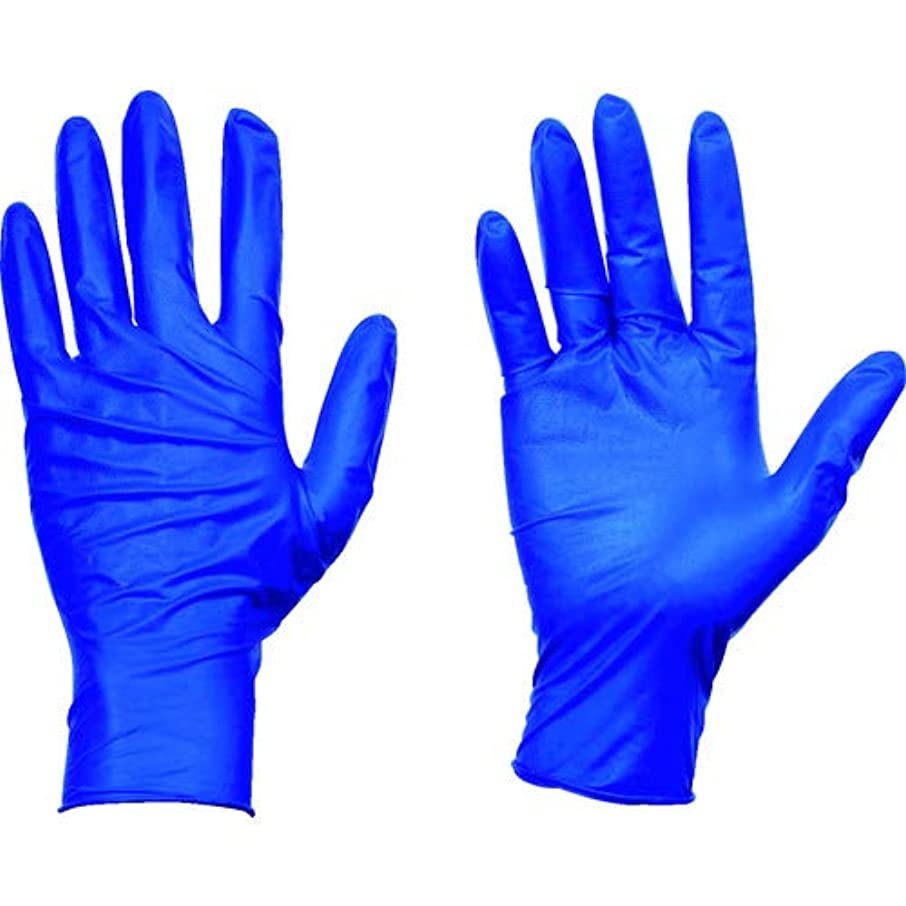 ばかげたメナジェリーあたたかいTRUSCO(トラスコ) 使い捨て天然ゴム手袋TGセーフ 0.12 粉無青S 100枚 TGNL12BS
