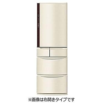 パナソニック 411L 5ドア冷蔵庫(シャンパン)【左開き】Panasonic エコナビ NR-E412VL-N