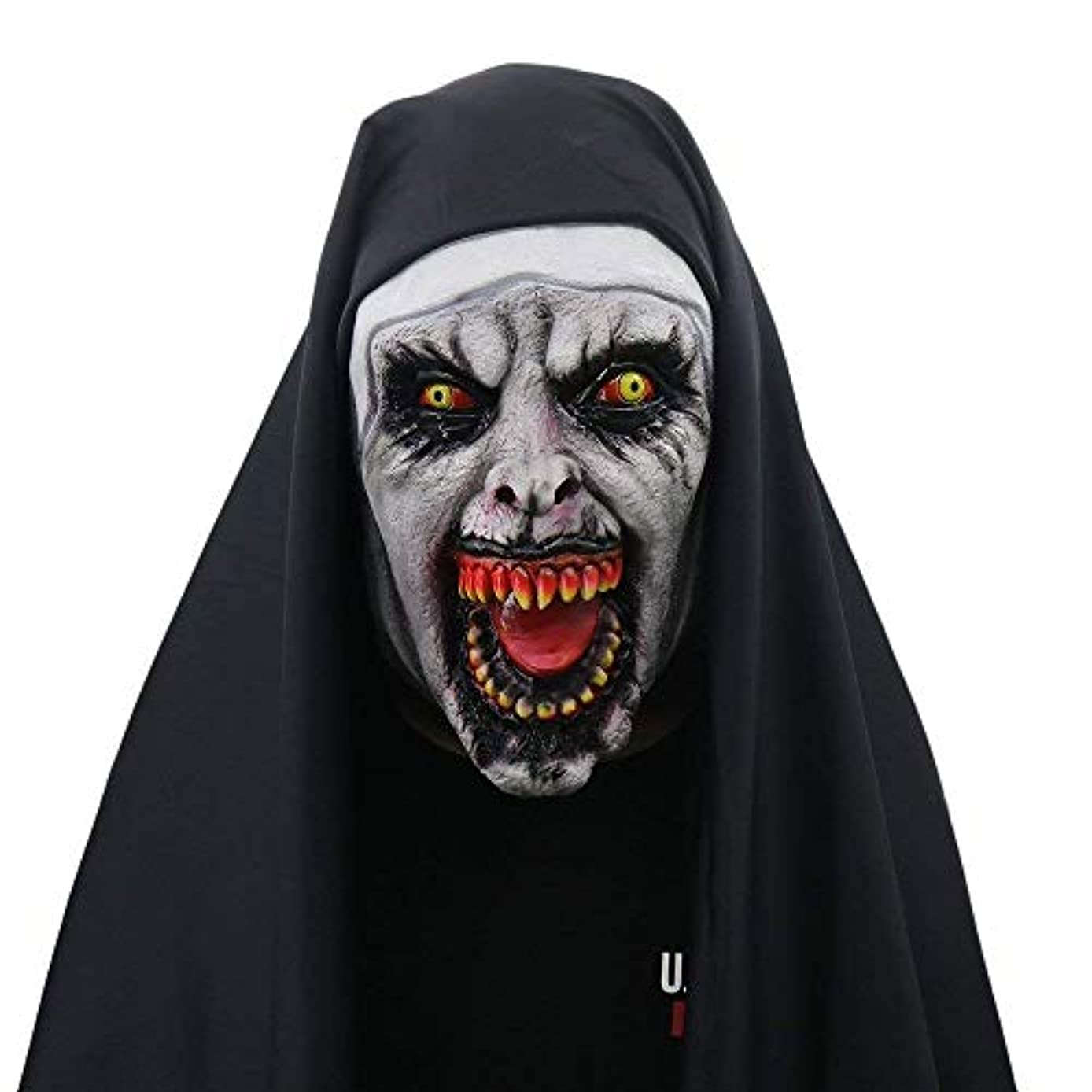 うっかり整理する収穫女性のためのハロウィン修道女の衣装、修道女仮面の怖いベール