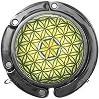 チャーム 財布 フック サンシャイン 生命の花 財布フック フラワーオブライフ バッグフック 神聖 ジオメトリー 財布 フック 神秘的な幾何学ジュエリー スピリチュアルジュエリー ZE238 4.5cm