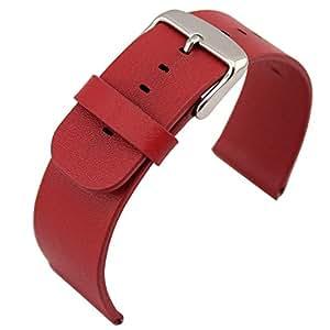 【IVSO】Apple Watch バンド38mm専用 上質レザー腕時計ベルト 本革製 取り外し型 便利型 実用型 Apple Watch 本体付きない- apple watch 2015 ベルト専用 腕時計ベルト (Apple Watch, レッド)