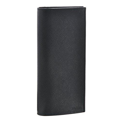 PRADA(プラダ) 財布 メンズ サフィアーノ 2つ折り長財布 ブラック 2MV836-PN9-002 [並行輸入品]