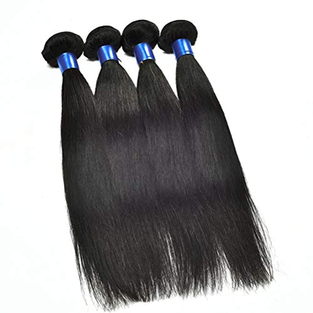 計算する束ねる間150%密度未処理ブラジル髪バンドルブラジルストレートヘア1バンドル8aストレート人間の髪の毛を編む女性の髪