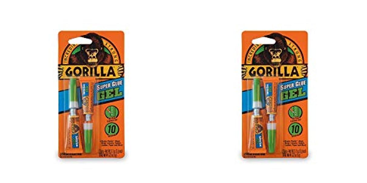 彼女の自宅でペアGorilla スーパーグルーゲル 3グラムチューブ2個 クリア 2 Pack 7820001-2 1