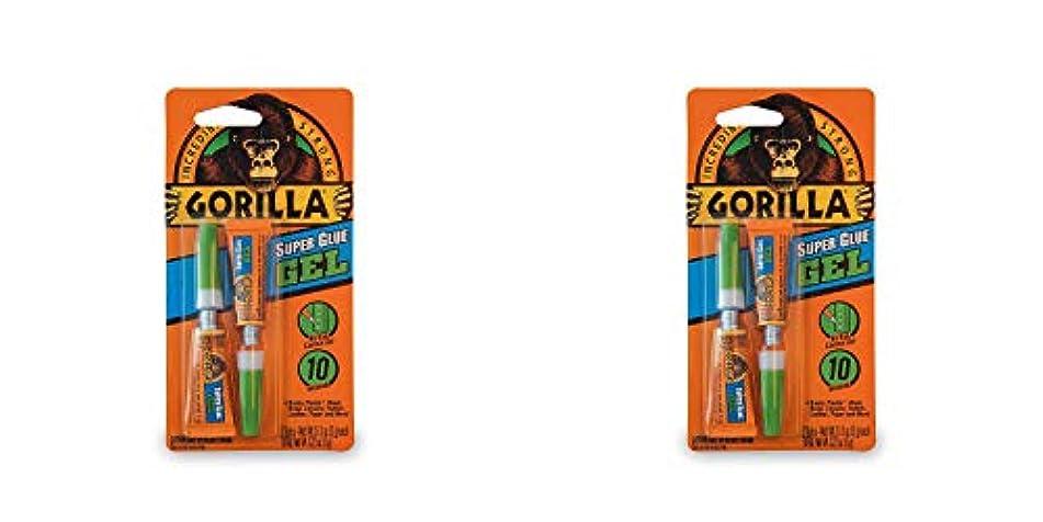 窒素プット憎しみGorilla スーパーグルーゲル 3グラムチューブ2個 クリア 2 Pack 7820001-2 1