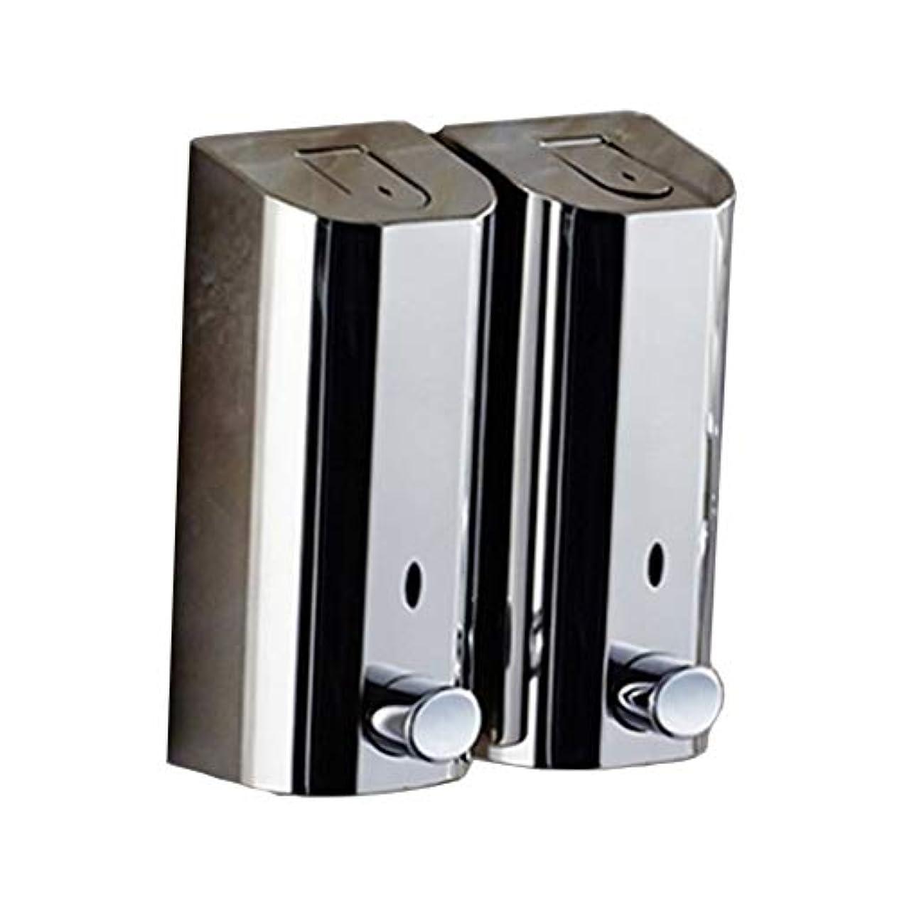 Kylinssh ダブルソープディスペンサー、500ミリリットル* 2自動液体ディスペンサー、防水、漏れ防止、子供のためのタッチレスソープディスペンサー、キッチン、バスルーム