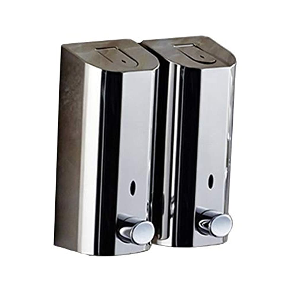 電信ハングプレミアムKylinssh ダブルソープディスペンサー、500ミリリットル* 2自動液体ディスペンサー、防水、漏れ防止、子供のためのタッチレスソープディスペンサー、キッチン、バスルーム